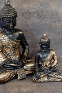 Pris for tantra massage hos Shiva Shakti - billedet viser to buddha figurer